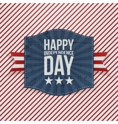 Happy independence day paper emblem vector