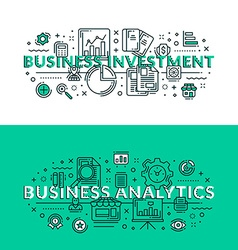 Business investment and business analytics colored vector