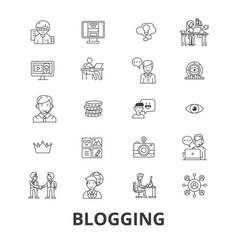blogging blogger social media news website vector image vector image