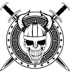 Board and skull vector