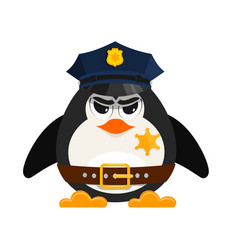 Cartoon cop on a white background cartoon style vector