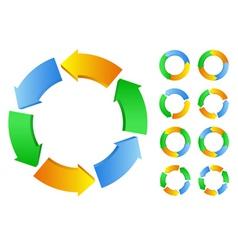 Circles with arrows vector