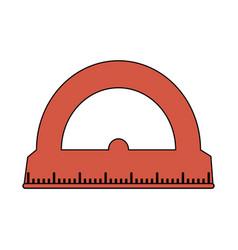 color image cartoon red rule conveyor for school vector image
