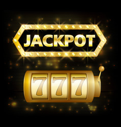jackpot casino lotto label background sign casino vector image