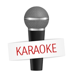 Karaoke banner with microphone eps10 illus vector image