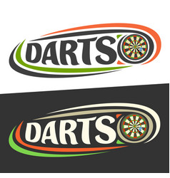 logos for darts vector image vector image