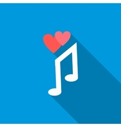 Love song icon flat style vector image