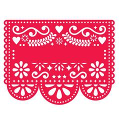 Mexican papel picado template design vector