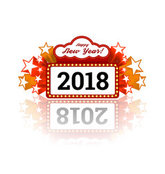new year marquee 2018 vector image vector image