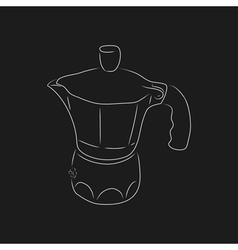 Outline of coffee maker geyser vector