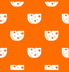 Piece of swiss cheese pattern seamless vector