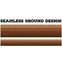 Seamless background with underground scene vector