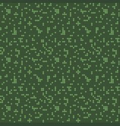 Semless pattern green squares vector