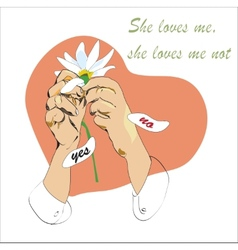 She Loves Me Not vector image vector image