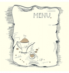 template for coffee menu vector image vector image