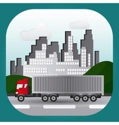 Truck icon design vector image vector image