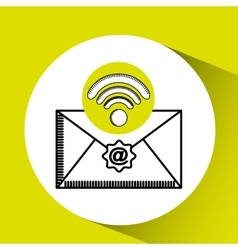 Wifi internet email concept mail graphic vector