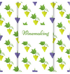 winemaking poster with isolated grapes vector image vector image