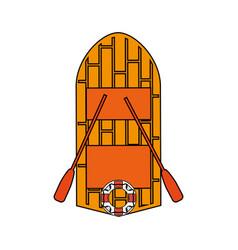 Wooden boat design vector