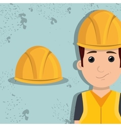 Man worker protection tools icon vector
