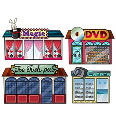Amusement area dvd and camera shop vector