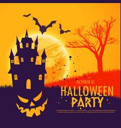 Scary halloween festival party invitation vector
