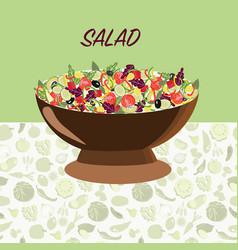 Fresh natural healthy food healthy food diet vector