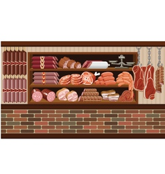 Meat market vector