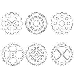 Set of gears icons vector