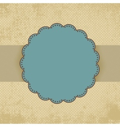 Vintage polka dot card template EPS 8 vector image