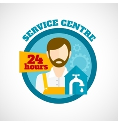 Plumber service flat concept vector