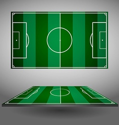 Soccer playfield views vector