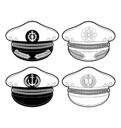 Graphic captain cap vector