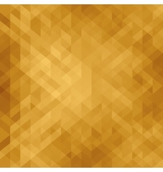 Beautiful golden background with triangle vector