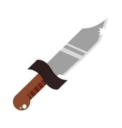 Short knife creative and cartoon vector image