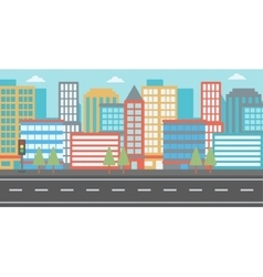 Background of modern city vector