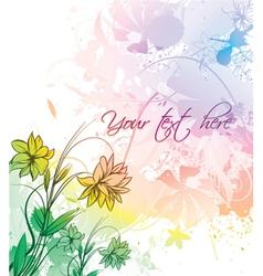 Watercolor floral vector