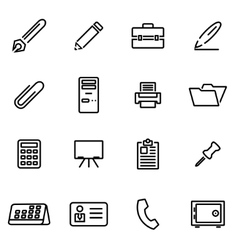 Thin line icons - office vector
