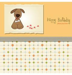 Birthday card with dog vector