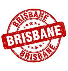 Brisbane red grunge round vintage rubber stamp vector