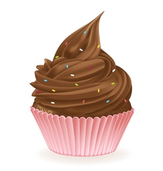 Chocolate Sprinkle Cupcake vector image vector image