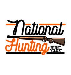 color vintage hunting club emblem vector image vector image
