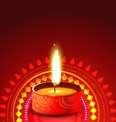 Creative diwali diya background vector