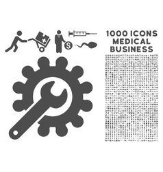 Customization icon with 1000 medical business vector