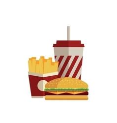 Fast food Flat design vector image