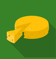 French hard cheese icon in flat style isolated on vector