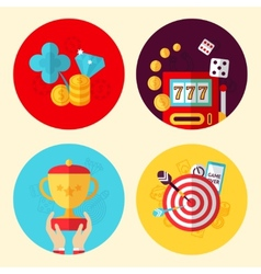 Game design set vector image vector image