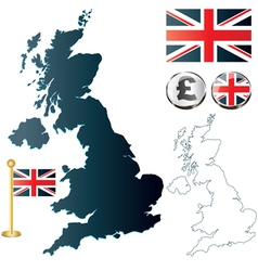 Great Britan map vector image