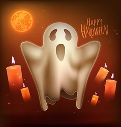 Happy halloween ghost vector