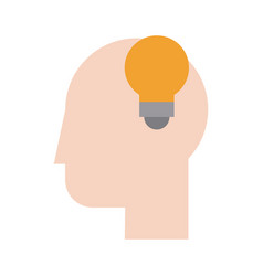 human head profile sideview icon image vector image